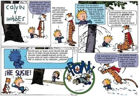 Calvin and Hobbes en Español by Bill Watterson, December 23, 2012 Via @GoComics   Ensayo y Error   Scoop.it