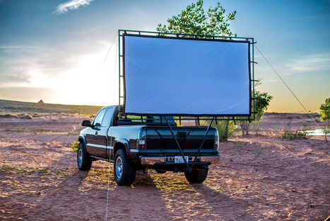 Carry your own drive-in theater with this collapsible, car-mounted movie screen | ☯ Song For A Friend ☯ | Scoop.it