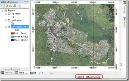 Georeferenciar en ArcGis - Agua y SIG | #Geoprocessamento em Foco | Scoop.it