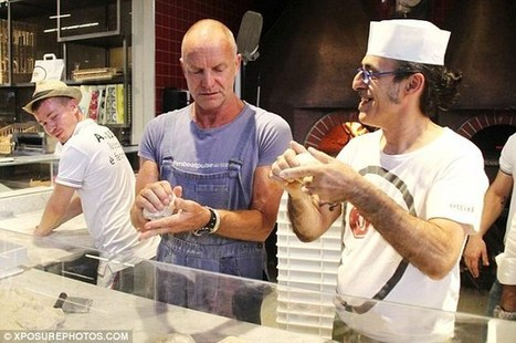 Singer Sting learns how to make pizzas at the cooking school in Mercato Centrale, Florence | East Coast Limousine Service | Scoop.it