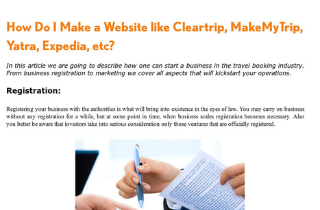 'How do I Make a Website like Cleartrip, MakeMyTrip, Yatra,Expedia.   Wordpress, Magento & Joomla Plugins Download   Scoop.it