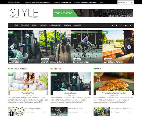 Style Magazine Blogger Template | OddThemes | Blogger themes | Scoop.it