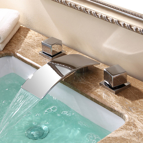 Faucetsmall.com – Two Handle Waterfall Basin Mix Tap | Bathroom Sink Faucets or Kitchen Faucets | Scoop.it