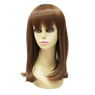 High Quality Capless Synthetic Janpanese Kanekalon Medium Length Light Brown Straight Hair Wig For Women – WigSuperDeal.com | Party Wigs | Scoop.it