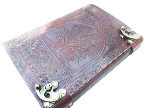 Buy-Tree of life leather journals, leather notebook, leather diary, leather bound journal, personalized journals, leather journal cover | Handmade Leather Journals | Scoop.it