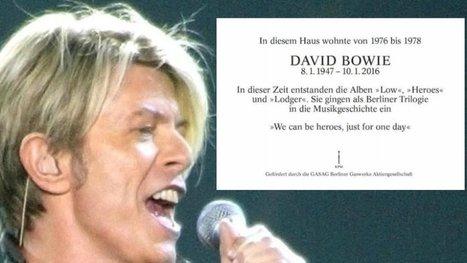 So sieht die Gedenktafel für David Bowie in Schöneberg aus | Angelika's German Magazine | Scoop.it