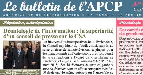 Bulletin de l'APCP mai 2015 | Journalisme & déontologie | Scoop.it
