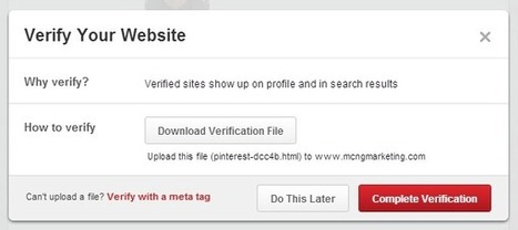 How to Verify Your Pinterest Account | Pinterest | Scoop.it