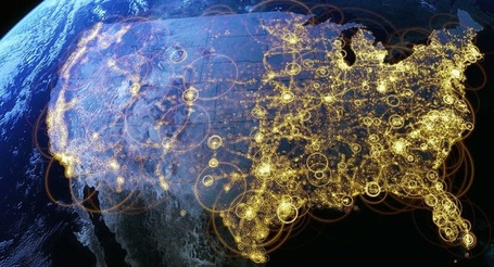 Aerial Data Visualisation Reveals Life In The United States | Visualisation | Scoop.it