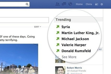 Facebook Testing Trending Topics Module | MarketingHits | Scoop.it