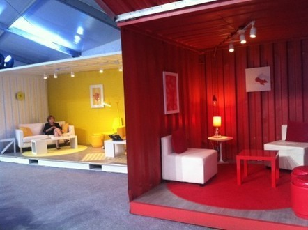 Check out the awesome 'pop-up' GooglePlex at the DNC, feat. shipping containers | Innovative Architecture | Scoop.it