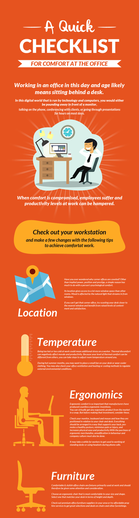 A Quick Checklist for Comfort at the Office | Office Furniture UK | Scoop.it