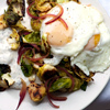 Brussels Sprouts with Fried Eggs and Spiced Yogurt | À Catanada na Cozinha Magazine | Scoop.it