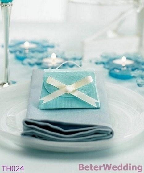 120pcs BeterWedding TH024 Tiffany Blue Wedding Candy Box | 純歐式婚禮喜糖盒 倍樂婚品 | Scoop.it
