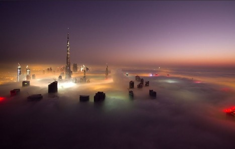 The world's tallest building and Dubai's skyscrapers poke through thick fog | Immobilier International | Scoop.it