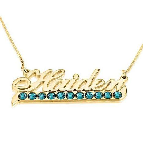 24K Gold Plated Color Name Necklace with Swarovski Crystal | Jeweleen - Dazzling Fashion Jewelry | Scoop.it