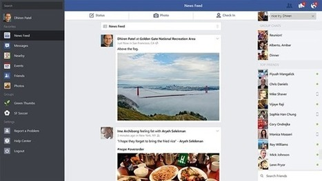 Official Facebook App For Windows 8.1 Updated: Features Picture Messages, Location Sharing And More ~ Best Online Tips And Tricks | Facebook | Scoop.it