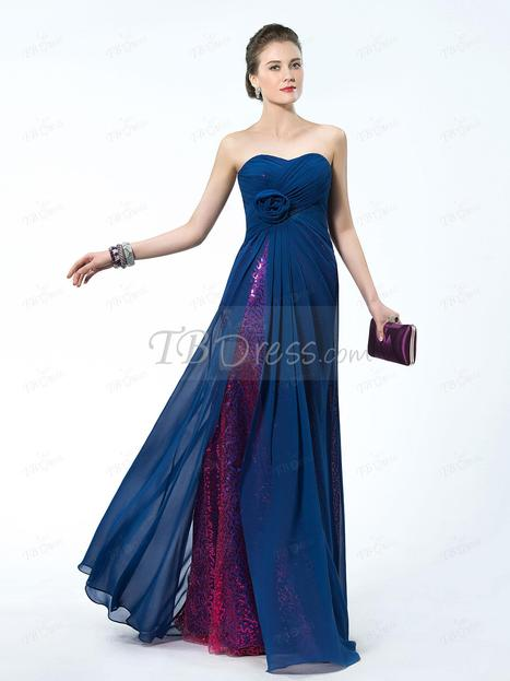 $ 103.49 Unique Design Sequins Flower Sweetheart A-Line Empire Waistline Prom Dress Designed Independently   one-piece dress   Scoop.it