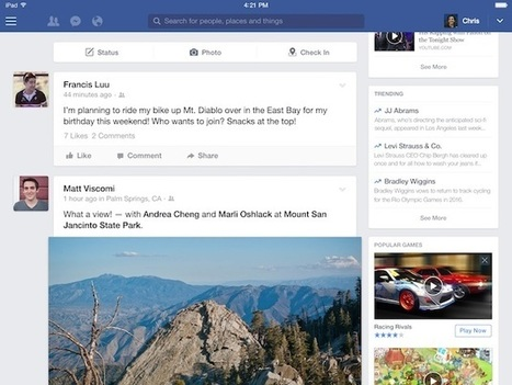 Facebook Revamps Right-Hand Column on iPad App | MarketingHits | Scoop.it