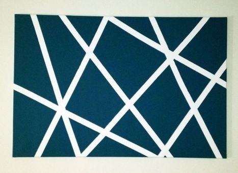 Easy DIY Wall Art: All You Need is a Canvas, Paint, and Tape! | Crafty Kids | Scoop.it
