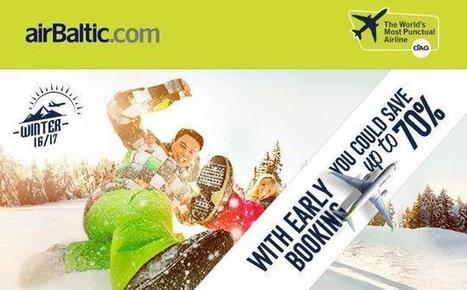 AirBaltic promotional sale 2016 - flights within Europe from €13! | tips for cheap flights and air tickets | Scoop.it