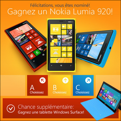 Gagner un Smartphone ou un Windows Surface Gratuitement! - e-Reduction | Services Gratuits et Bons plans de Qualité! | Scoop.it