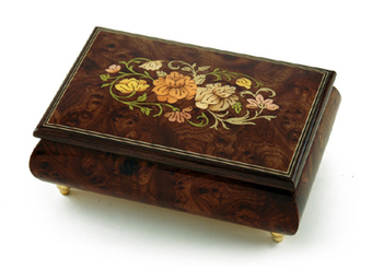 Remarkable Solid Burl-Elm Floral Theme Wood Inlay Musical Jewelry Box - Christmas Gifts | Christmas Gifts For Every Occasion | Scoop.it