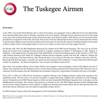Franklin D. Roosevelt Presidential Library and Museum | Tuskegee Airmen | Scoop.it
