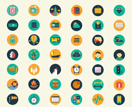 45 Fresh Icon Designs For Inspiration | freebies | Scoop.it