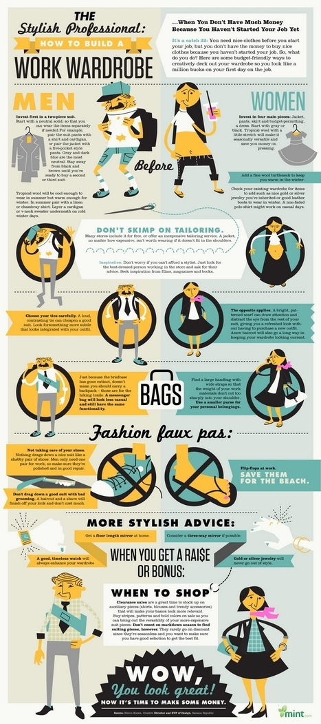 The Stylish Professional: How to Build a Work Wardrobe | Infographics for English class | Scoop.it