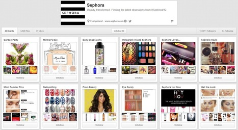 Sephora Snags Beauty Sales with Pinterest | Business 2 Community | Réseaux Sociaux - Social Media | Scoop.it