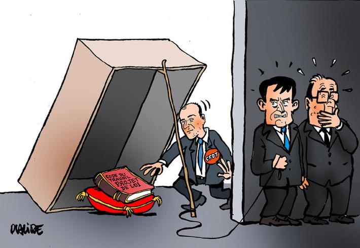 Loi travail : la CFDT soutient le projet du gouvernement | Baie d'humour | Scoop.it