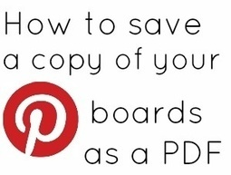 How to Save a Copy of Your Pinterest Boards as PDF | Simply Social Media Marketing | Scoop.it
