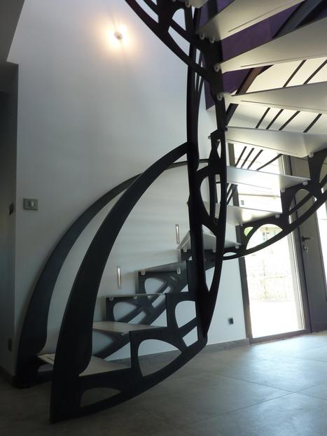 L'Art de l'escalier design double quart tournant | Escalier Design Mobilier Contemporain de style Art Nouveau | Scoop.it