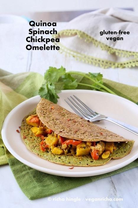Spinach Quinoa Chickpea Omelette. Soyfree Glutenfree Vegan Recipe | Vegan Richa | My Vegan recipes | Scoop.it