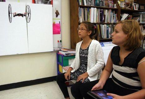 Drones in Woodland Elementary classroom soar, flip and teach | ESL  Teaching at school | Scoop.it