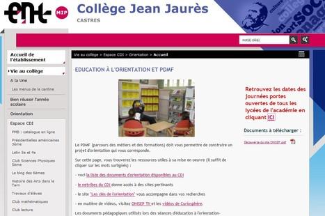 Le CDI sur l'ENT | CDI du collège Jean Jaurès | Scoop.it