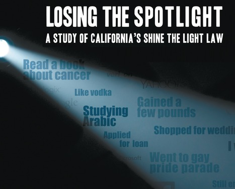 Losing the Spotlight: A Study of California's Shine the Light Law | Higher Education & Privacy | Scoop.it