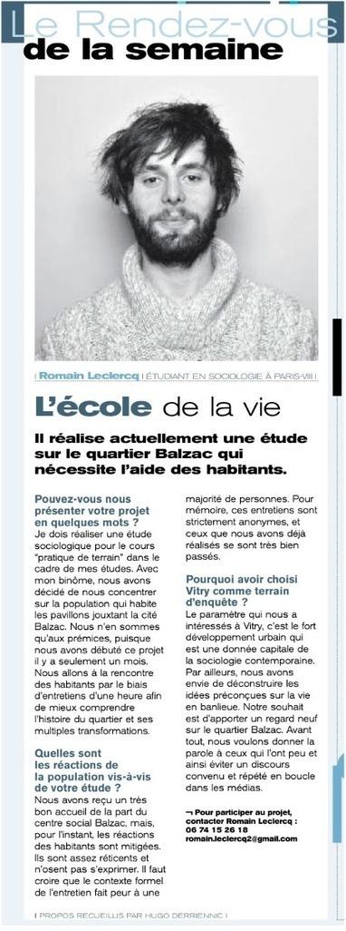 Romain à l'honneur | Département de sociologie | Université Paris 8 ... | Université Paris 8 | Scoop.it