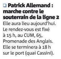 Patrick Allemand marche contre le souterrain de la Ligne 2   Nice 2014, Un autre Avenir pour Nice avec Patrick Allemand   Scoop.it