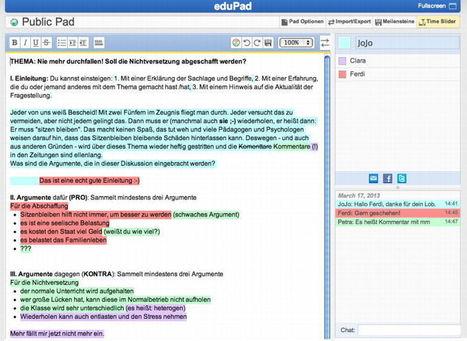 Arbeiten mit Etherpads und GoggleDoks in der Schule | Moodle and Web 2.0 | Scoop.it