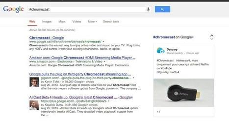 Google: les #hashtags provenant de Google+ apparaissent dans les résultats de recherche de Google   News Webmarketing   Scoop.it