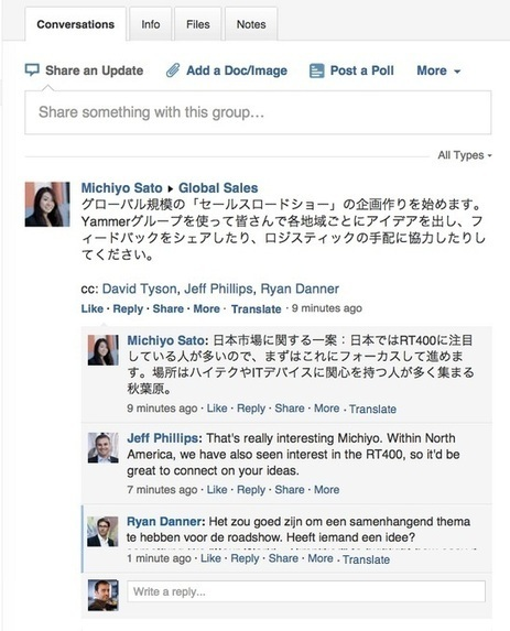 Microsoft Introduces Message Translation Into Yammer | Enterprise Social Tools | Scoop.it