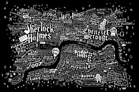 The literary map of London is just beautiful | ESL- EFL and Art | Scoop.it