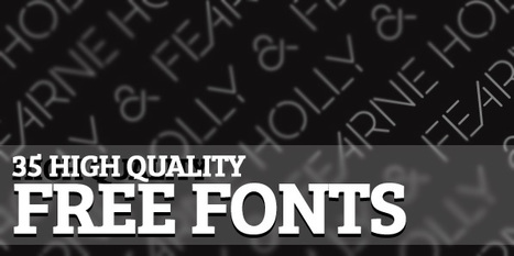 35 High Quality Free Fonts For Designers | Webdesign & Graphics | Scoop.it