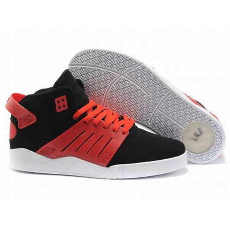 supra skytop iii red and black suede sneaker mens | share list | Scoop.it