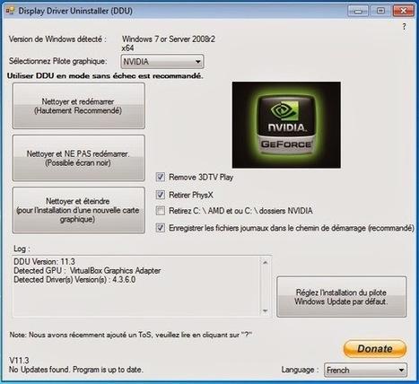 Windows: désinstaller complètement et proprement les drivers / pilotes Nvidia, AMD ou Intel avec Display Driver Uninstaller | heritierjoseph1@gmail.com | Scoop.it