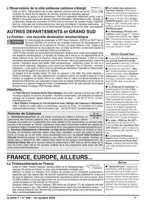 La Lettre T Fronton, une nouvelle destination oenotouristique   Haute-Garonne tourisme   Scoop.it