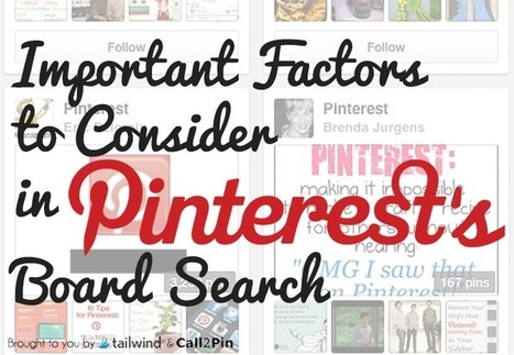 Important Factors to Consider in Pinterest's Board Search - Business 2 Community | Everything Pinterest | Scoop.it