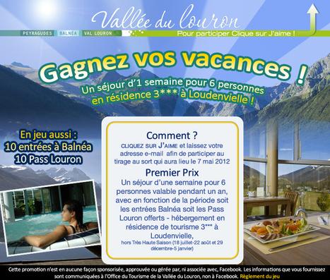 Vallée du Louron - Page officielle - Jeu-concours | Facebook | Louron Peyragudes Pyrénées | Scoop.it